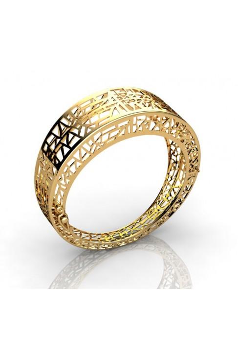 Modern 18K Gold Designer Bracelet
