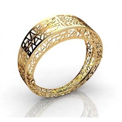 Жесткий браслет из золота 18 карат