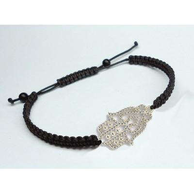18K Fatima Hand's White Gold Bracelet