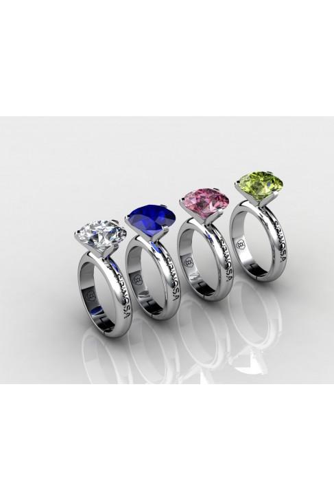 anillos con gemas semipreciosas y oro 18k