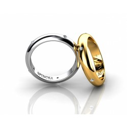 wedding rings with 5 brilliants