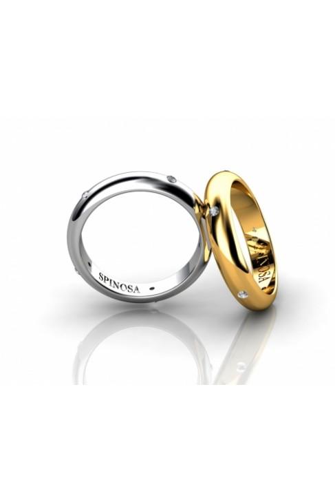 Обручальные кольца из белого золота 18К с бриллиантами