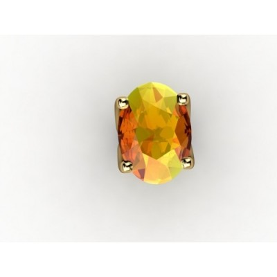 yellow topaz gold ring