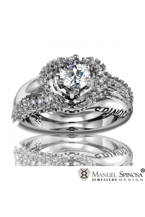 spectacular diamond Ring with diamond and 88 brilliants