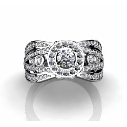 spectacular engagement ring with brilliants