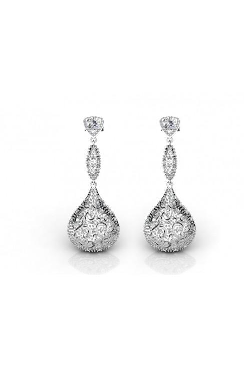 spectacular long earrings with zircon