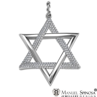 Star Pendant with 0.59CT Diamond and 20 Brilliants