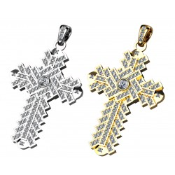 18k Gold Cross Pendant