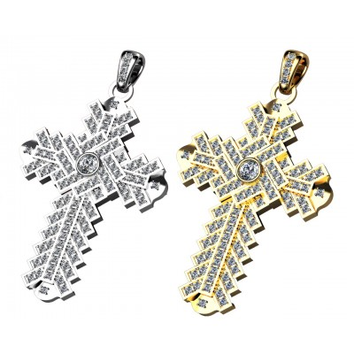 Cruz de oro 18k y diamantes