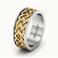 Обручальные кольца с плетеным рисунком