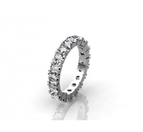 Современное обручальное кольцо с бриллиантами
