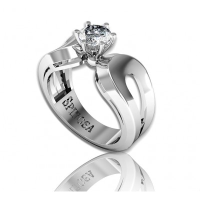 18k solitaire white gold engagement ring
