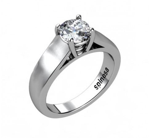 classic diamond solitaire ring 4 claws.