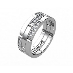 wedding rings with chain design and diamonds