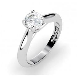 Кольцо для помолвки из белого золота 18К с бриллиантом
