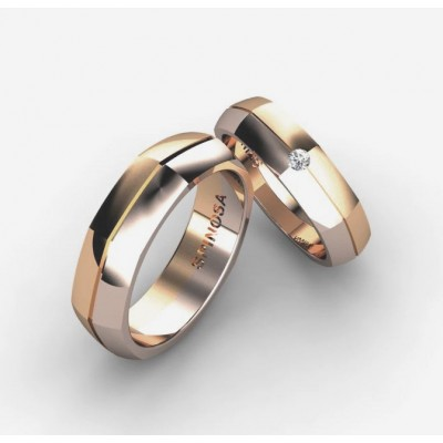 sophisticated octagonal-shaped wedding ring