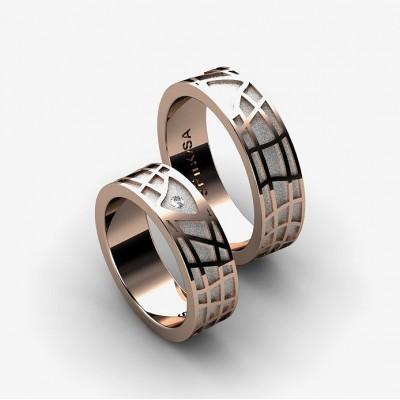 alianzas de matrimonio con dibujos geometricos
