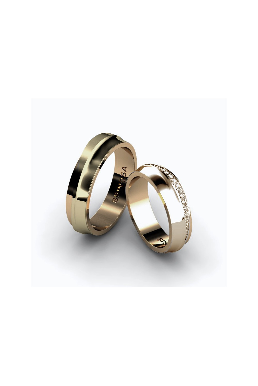elegant simple engagement classy pin rings and
