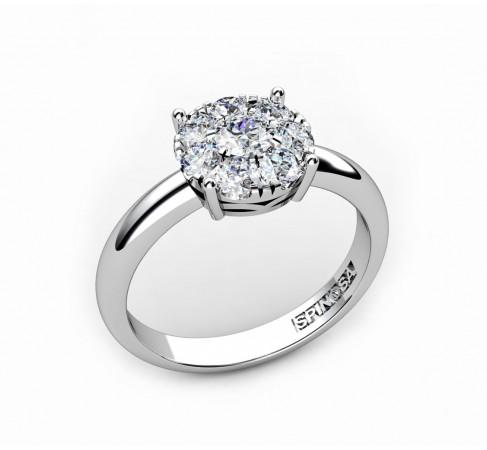 anillo de compromiso en oro 18k y brillantes