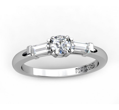 engagement ring ¨trilogi¨ with 3 diamonds
