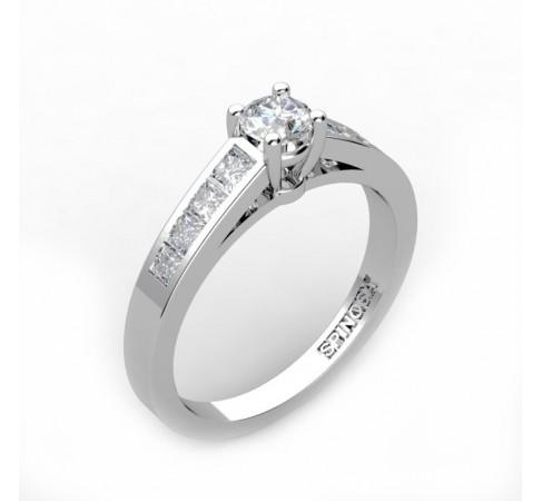 Кольцо для помолвки с центральным бриллиантом