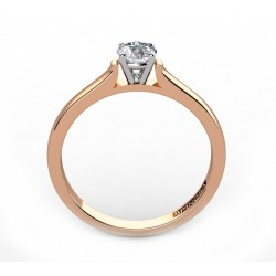 anillo de compromiso de oro 18k bicolor con diamantes.