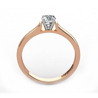 Кольцо для помолвки из золота 18К с бриллиантом