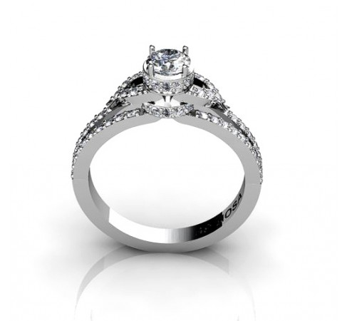 stunning engagement ring with 68 brilliants