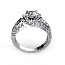 irresistible engagement ring filled with brilliants