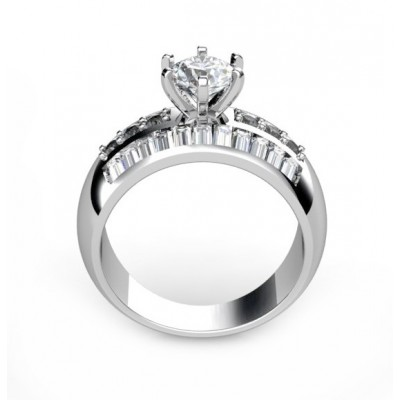 18K 28 diamond solitaire engagement ring