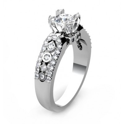 enticing engagement ring with unique brilliants