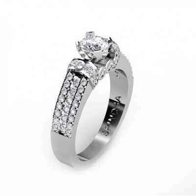 fantastic engagement ring with diamonds