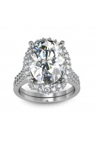stunning white gold diamond ring with 100 brilliants