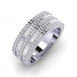 anillo diamantes baguettes