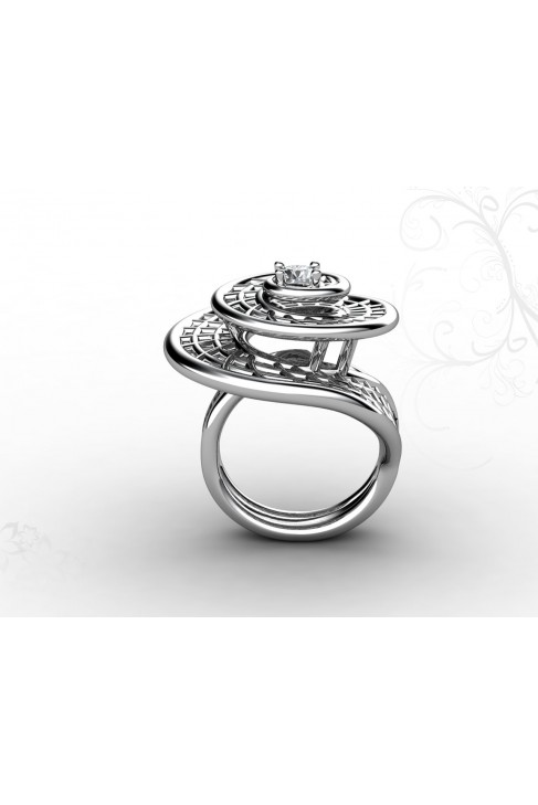 18k Gold Spiral Shaped Ring