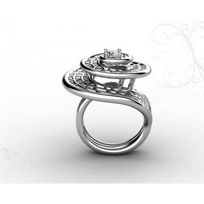 Кольцо из золота 18 карат в форме спирали