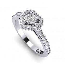 Кольцо из белого золота с бриллиантами