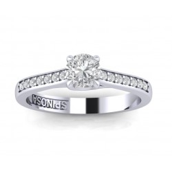 4 crossed claws engagement ring