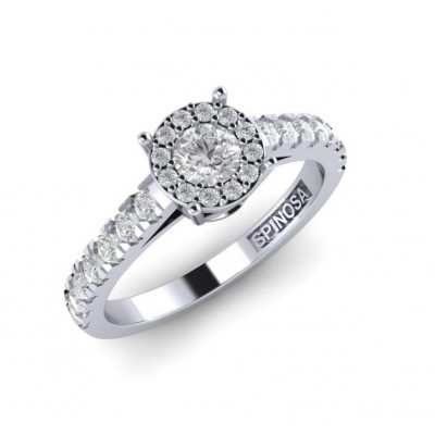 Fantasy solitaire ring