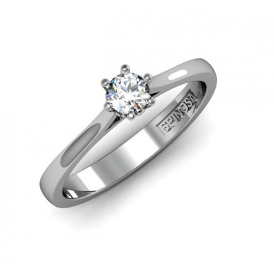 6 claws setting solitaire ring.