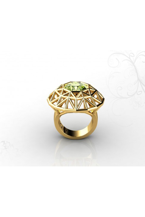 18k gold with semi-precious gemstone ring