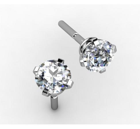 4 claws created diamonds earrings