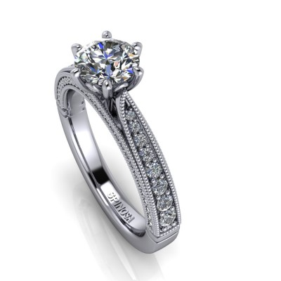 Vintange Brilliants Solitaire Ring