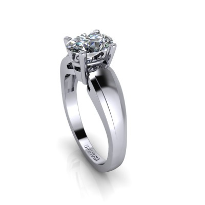 Modern Diamond Oval cut Solitaire
