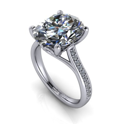 Classic Diamond Oval Cut Ring