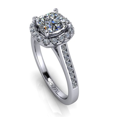 Engagement Diamond Cushion Cut