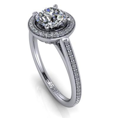 Enagagement Halo Brilliants Ring