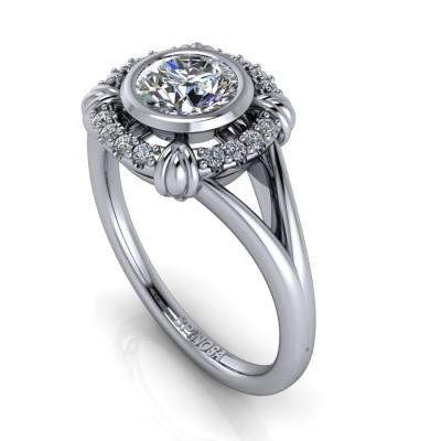 Brilliant Visel Ring with doble Sank
