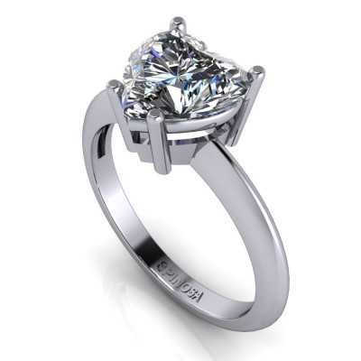 Diamond Heart Solitaire