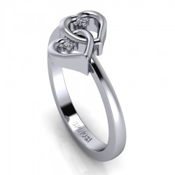 Brindal Ring with 2 Hearts